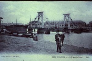 Ankerparkbrug eerder Nieuwe brug Over de Koopvaarderbinnenhaven 1846/47 gebouwd als dubbele wipbrug 1968 buiten gebruik gesteld 1969 gesloopt